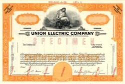 Union Electric Company (Now Ameren)  - Missouri 1970