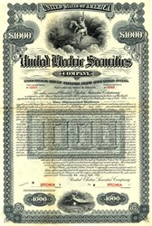 United Electric Securities (Owned by General Electric) -1926