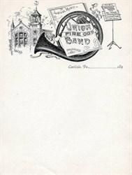 Union Fire Co's Band Letterhead - Carlisle, Pennsylvania 1890's