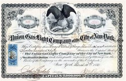 Union Gas Light Company of the City of New York 1872