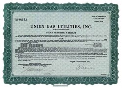 Union Gas Utilities, Inc. 1927