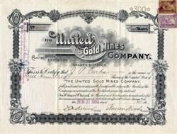 United Gold Mines  - Cripple Creek, Colorado 1902