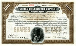 United Greenwater Copper Company (Death Valley)  - ABN - 1907