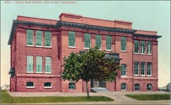 Union High School, Red Bluff, California Postcard
