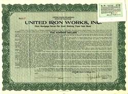 United Iron Works, Inc - Delaware 1919
