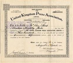 United Kingdom Press Association - London 1900