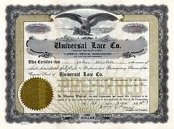 Universal Lace Company 1923 - Maine