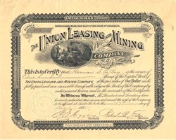 Union Leasing and Mining Company - Colorado 1895