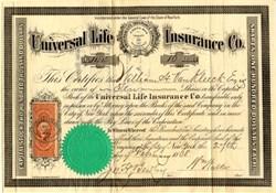 Universal Life Insurance Co. - New York 1868