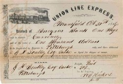 Union Line Express 1856 - Mansfield, Richland County, Ohio.