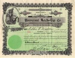 Universal Lock-Tip Co (Famous Shoelace Fraud)  - Massachusetts 1929