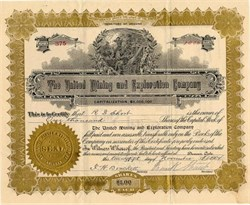 United Mining and Exploration Company - Tonopah, Nevada - Incorporated in Territory of  Arizona 1904