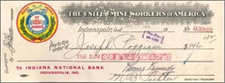 "United Mine Workers of America 1925 "" Eight Hours in Logo""- John L. Lewis as UMWA President"