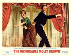 Unsinkable Molly Brown Lobby Card Starring Harve Presnell and Debbie Reynolds - 1964