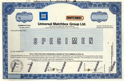 Universal Matchbox Group,  Ltd. (First South East Asian company listed on the New York Stock Exchange ) - 1986