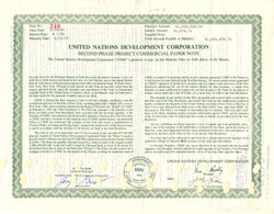 United Nations Development Corporation ($1,000,000 Face Value)  - New York 1968
