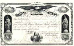 Union National Bank 1872 - Pennsylvania