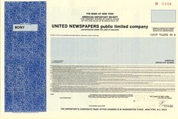 United Newspapers public limited company - England 1987