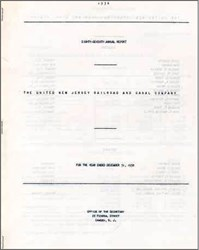 United New Jersey Railroad and Canal Company Annual Report 1958