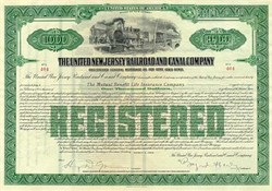 United New Jersey RR and Canal Co Stock 1924