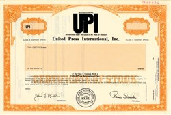 United Press International, Inc. - Delaware 1989