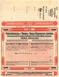 United Railways of the Havana and Regla Warehouses, Limited - Havana, Cuba 1927
