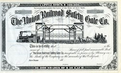 Union Railroad Safety Gate Company - New York 1880's