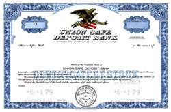 Union Safe Deposit Bank - California 1979