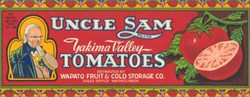 Uncle Sam Tomatoes Crate Labels