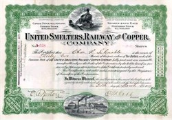 United Smelters, Railway and Copper Company 1909 - Wyoming