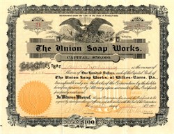 Union Soap Works - Wilkesbarre, Pennsylvania 1904