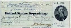 United States Depositary - Edwin M. Stanton Vignette 1905