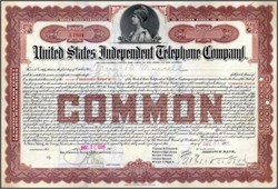 United States Independent Telephone Company 1906 - New Jersey