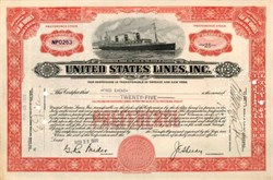 United States Lines, Inc. - Early Ship Vignette
