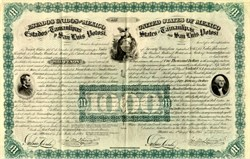 United States of Mexico (George Washington and Abraham Lincoln Vignettes) - 1865 - We want to buy Republic of Mexico Bonds - Sold Out