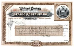 United States Sealed Postal Card Company - New York 18XX