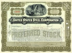 United States Steel Corporation Preferred Stock 1948