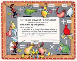 U.S. Treasury Bond Certificate 1949 - Al Capp