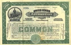 United States Automotive Corporation (Lexington Motor Company ) - Delaware 1921