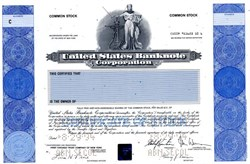 United States Banknote Corporation - Holagram SPECIMEN - New York 1994