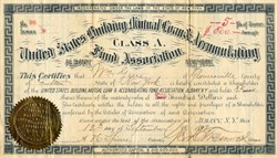 United States Building, Mutual Loan & Accumulating Fund Association - New York 1892
