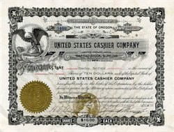 United States Cashier Company - $1,000,000 Swindle -  Oregon 1912