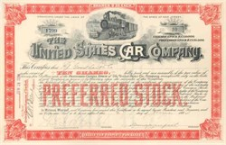 United States Car Company - New Jersey 1894