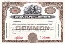 Universal - Cyclops Steel Corporation