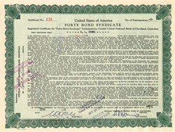 Forty Bond Syndicate - Ohio 1932