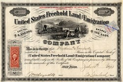 United States Freehold and Emigration - New York 1871
