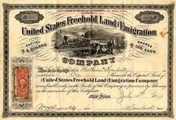 United States Freehold Land and Emigration - New York 1871