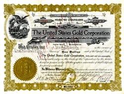United States Gold Corporation - Boulder, Colorado 1916