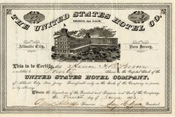 United States Hotel Company (first hotel in Atlantic City ) -  Atlantic City, New Jersey - 1883