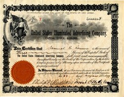 United Stated Illuminated Advertising Company - New Jersey 1899